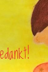 snoetjes vol sproetjes Kaartje Geel rechthoek - Bedankt!