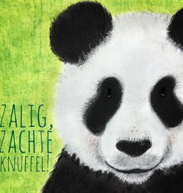 snoetjes vol sproetjes Kaartje Panda vierkant - Zachte Knuffel