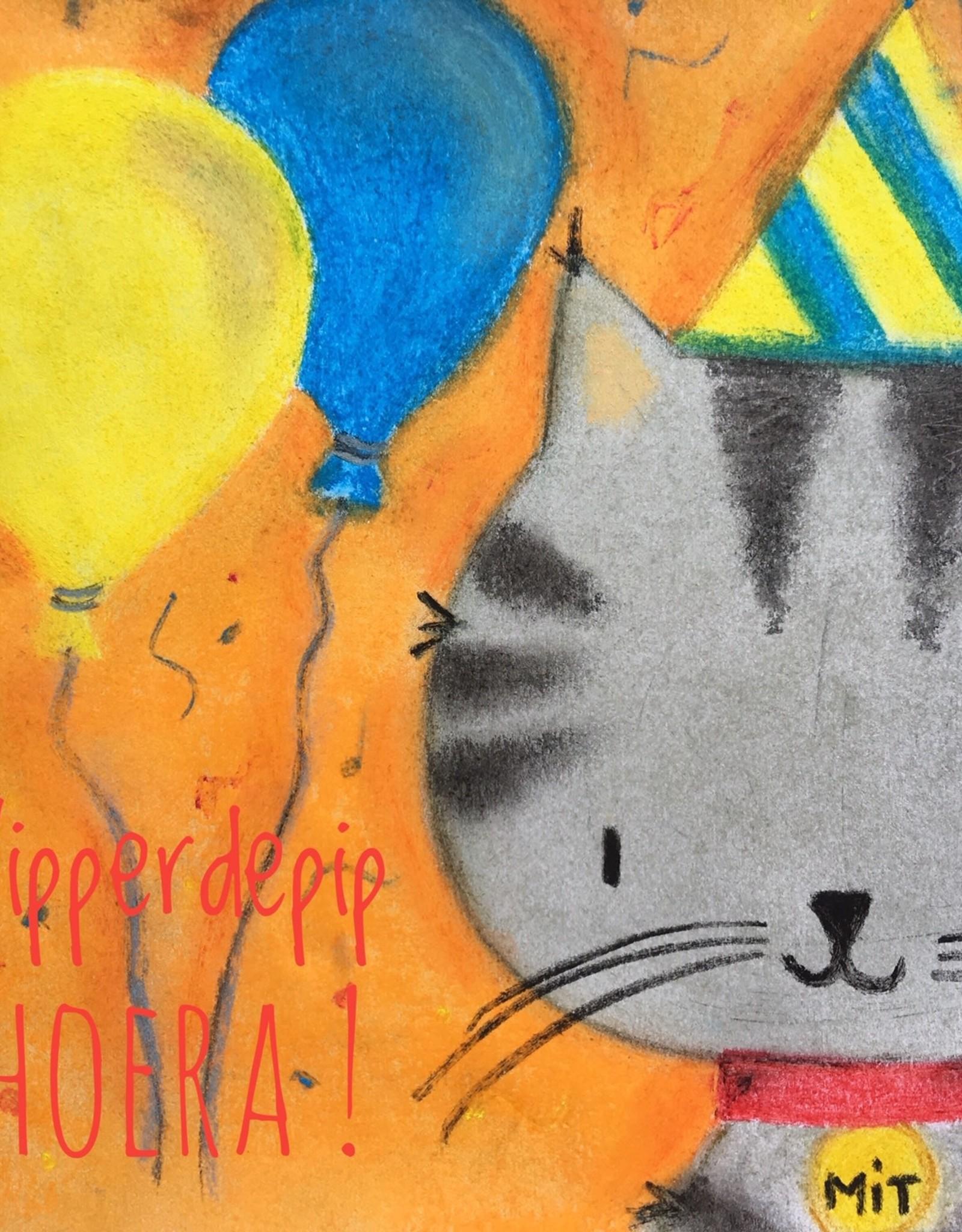 snoetjes vol sproetjes Kaartje Katje vierkant - Hipperdepip Hoera!