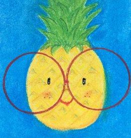 snoetjes vol sproetjes Kaartje Ananas rechthoek - Helemaal in m'n sas