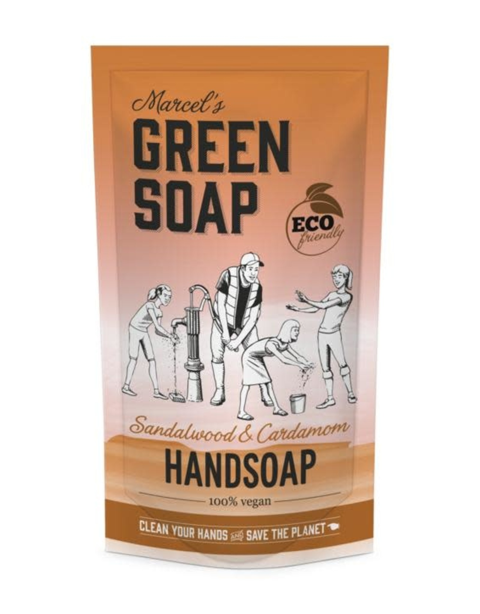 Marcel's Green Soap Handsoap sandelwood & cardamom refill 500 ml