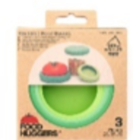 Foodhuggers Reusable Food Savers - set of 3 Big Hugs Soft Greens