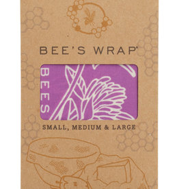 Bee's Wrap Bee's Wrap - 3-pack Assorted 'Mimi's Purple' S/M/L