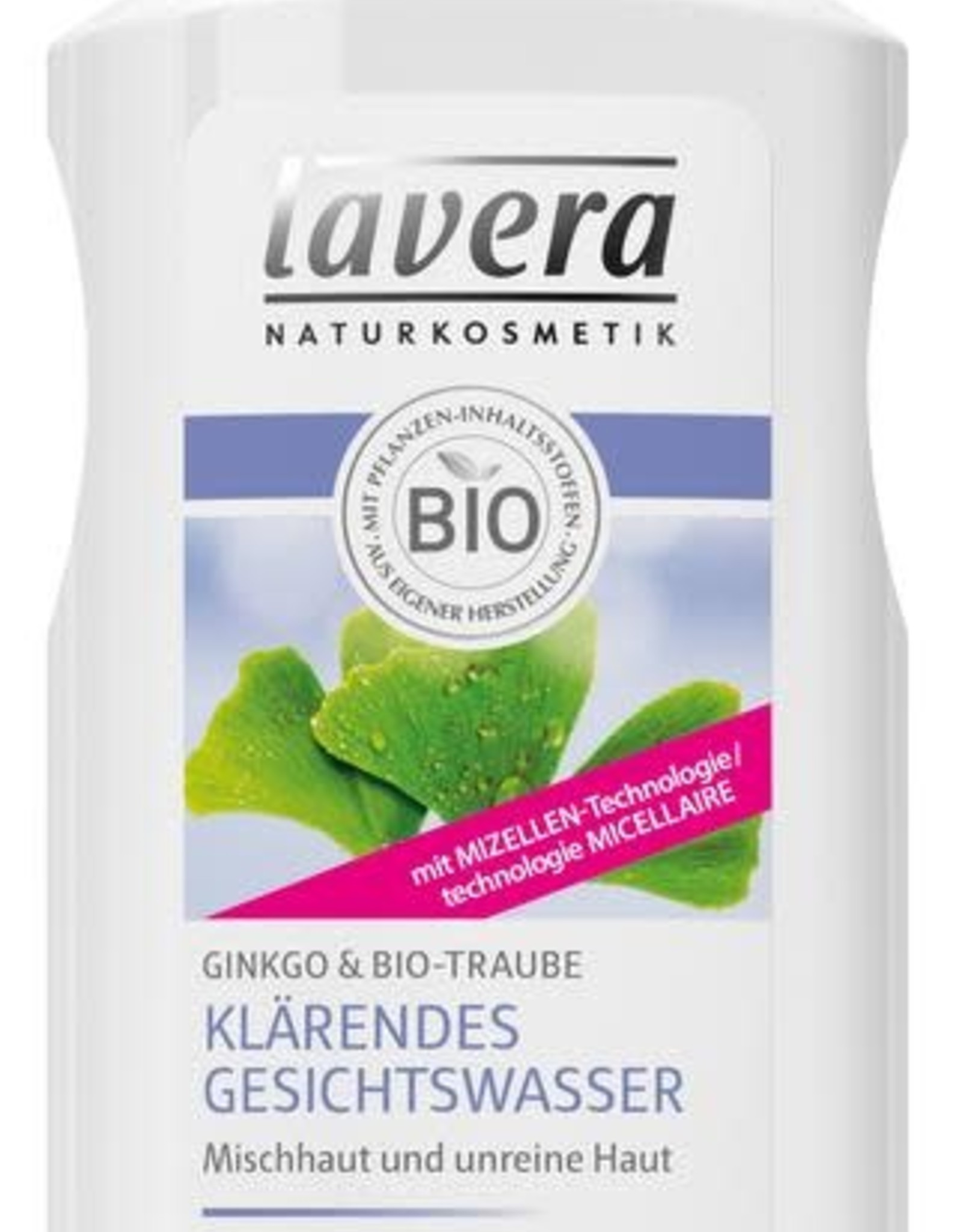 Lavera Gezichtstoner/facial toner gentle - cleansing purifying Ginko 125 ml