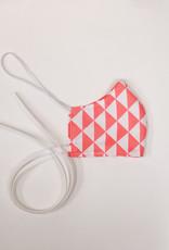 Mondkapje kindermaat roze driehoekjes