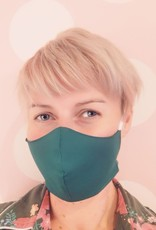 mondkapje met rekjes achter oren, vrouwenmaat, dennengroen