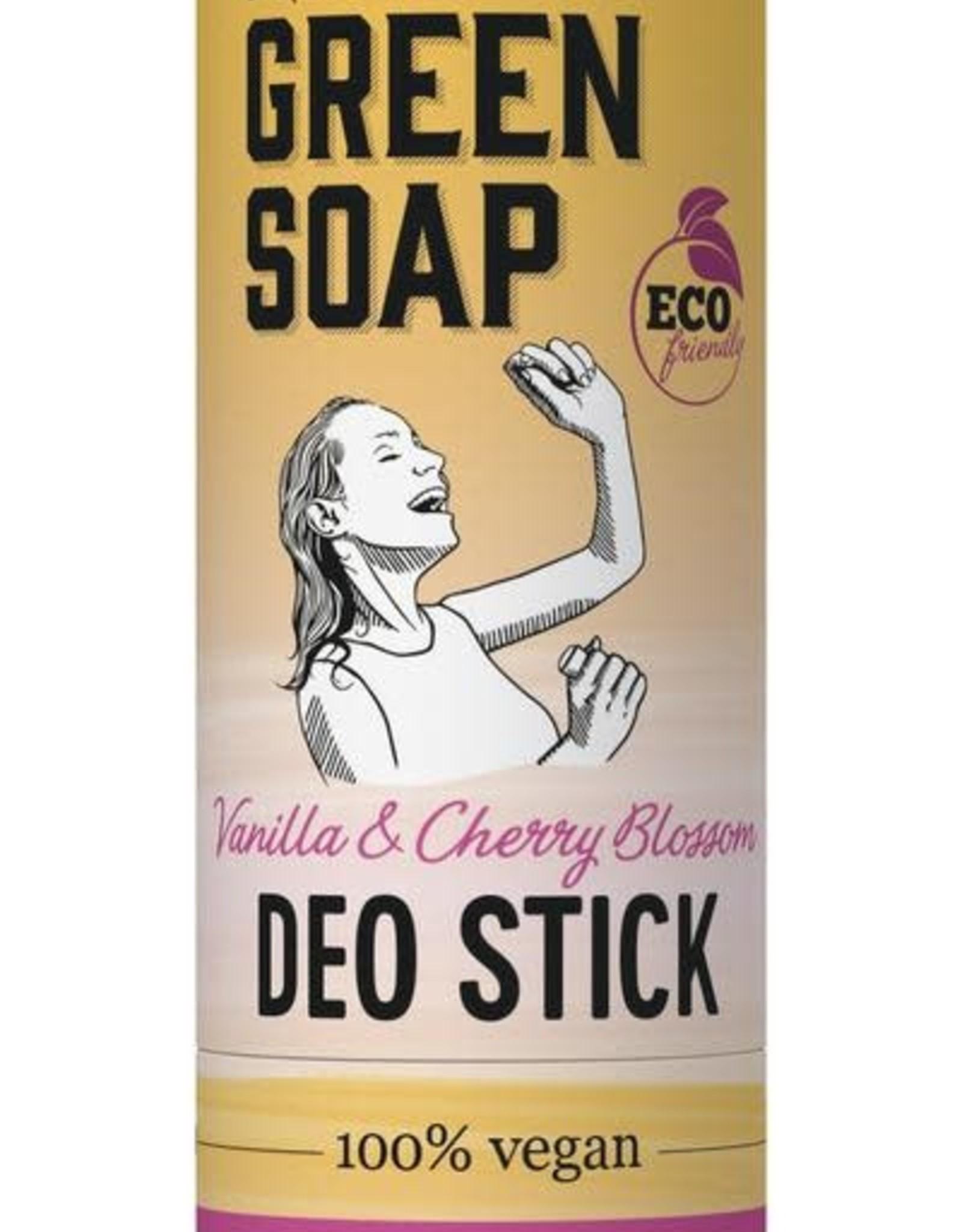 Marcel's Green Soap Deodorant stick vanilla & cherry blossom 40g
