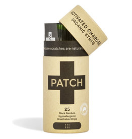 Patch PATCH Activated Charcoal Adhesive Strips - Bamboepleister - 25 Tube