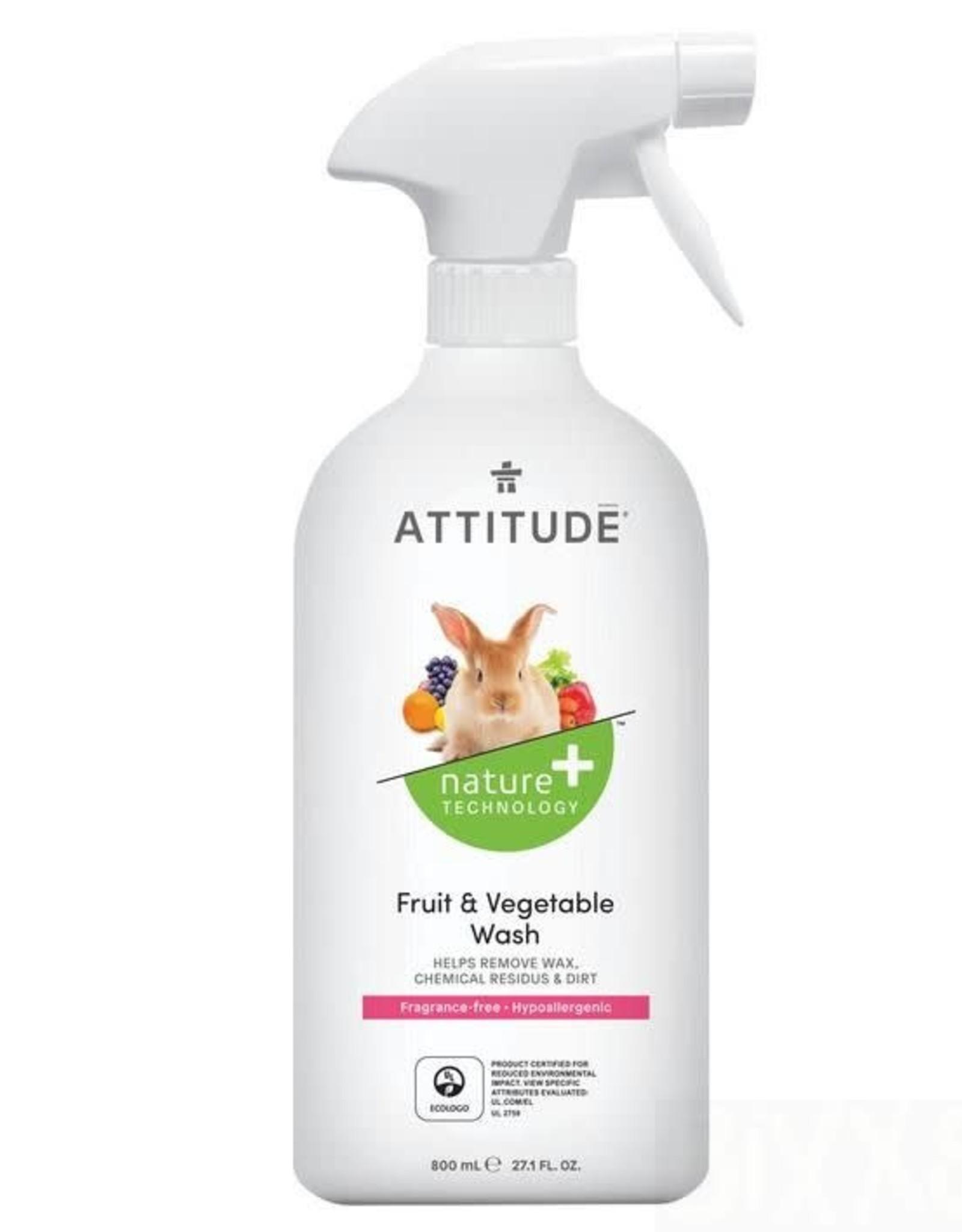Attitude Attitude Fruit & Vegetable Wash 800ml