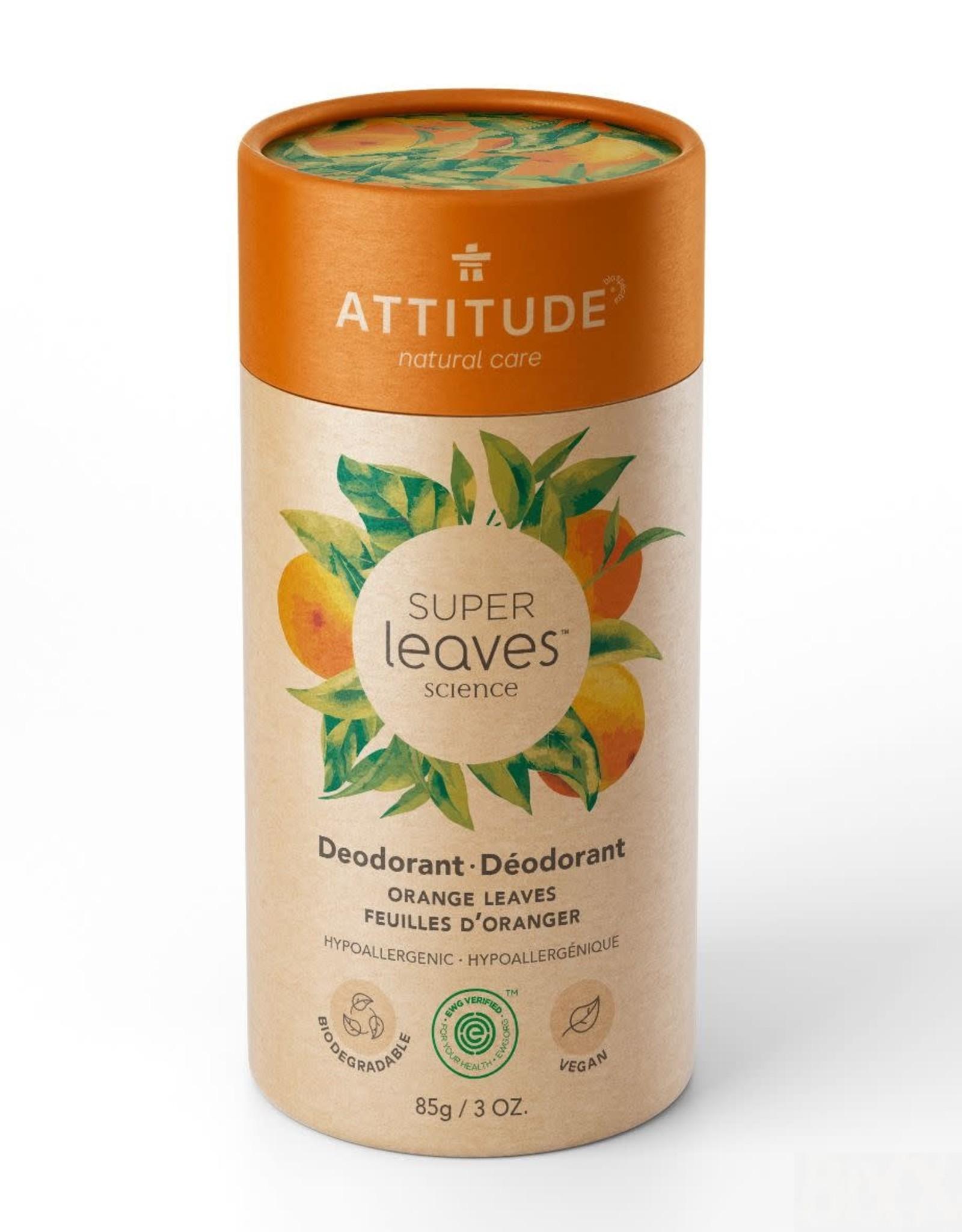 Attitude Super Leaves - Deodorant - Orange Leaves 85g