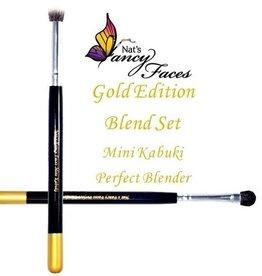 Fusion Nat's Gold Edition | Face Painting Mini Kabuki & Perfect Blender Set