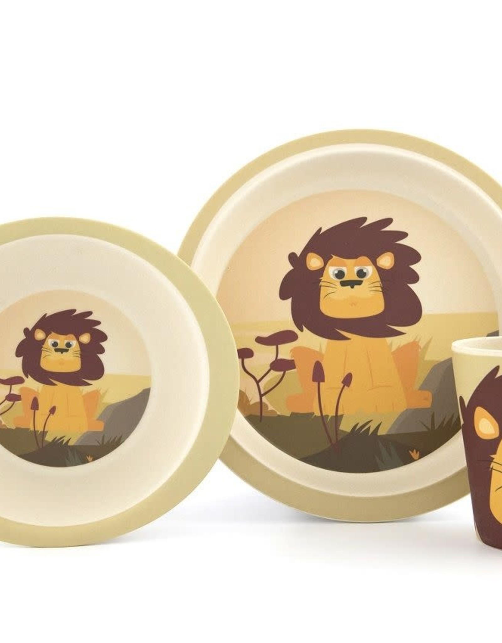 Yuunaa Bamboo Kids Set - Leeuw - 3 pieces