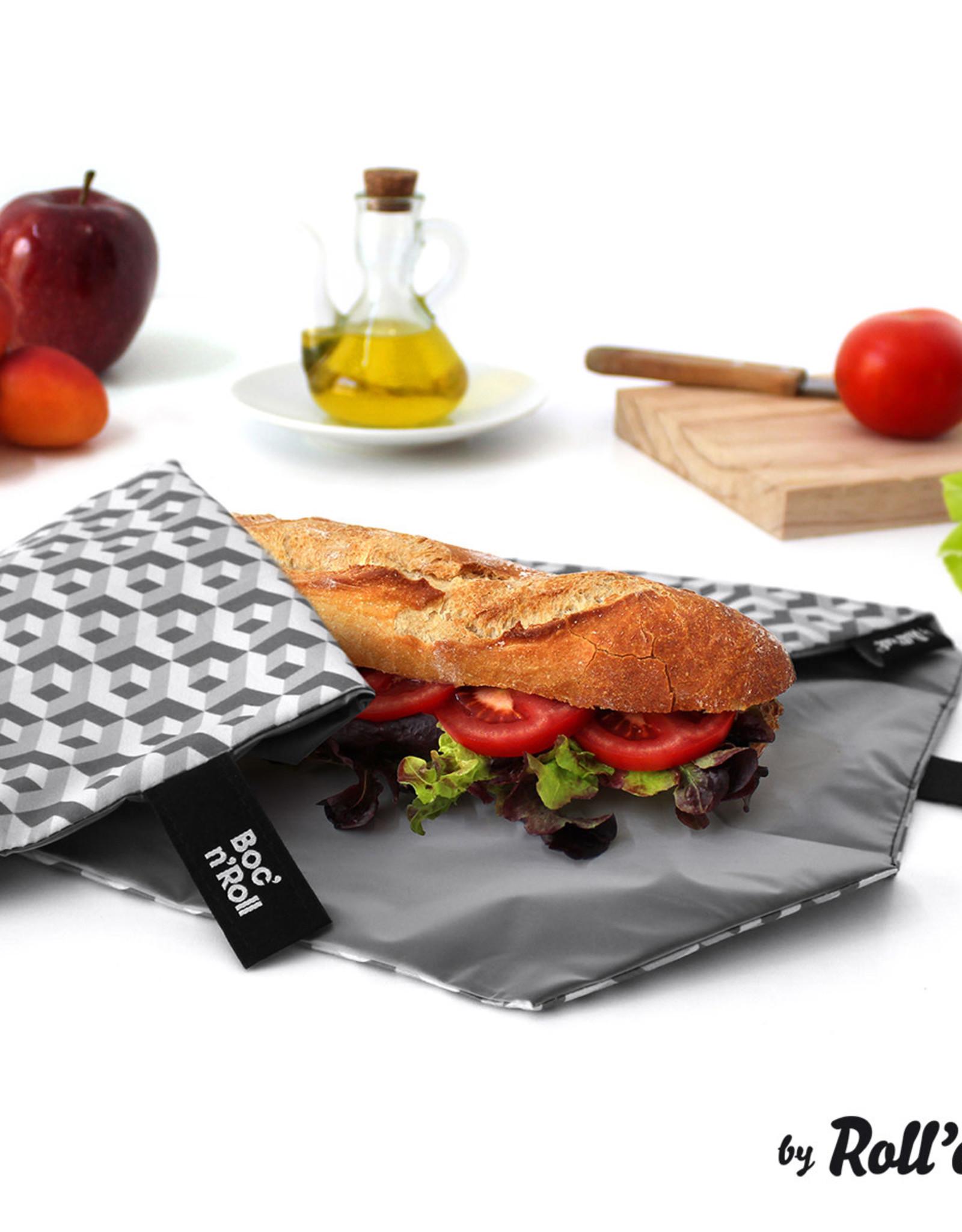 Roll'eat Boc'n'Roll Tiles - Sandwich Wrap Black
