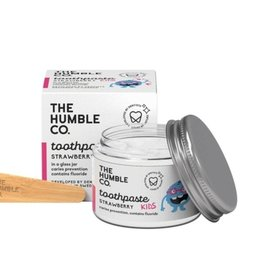 The Humble Co. Humble Natural Toothpaste Kindertandpasta Zero Waste - Aardbei met fluor 50ml