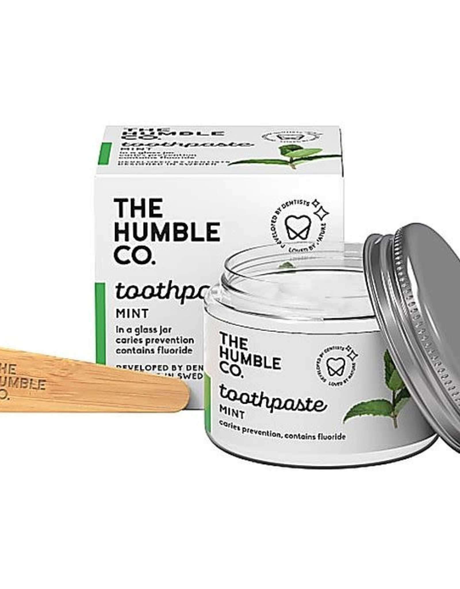 The Humble Co. Tandpasta Zero Waste - Mint met fluor  50ml