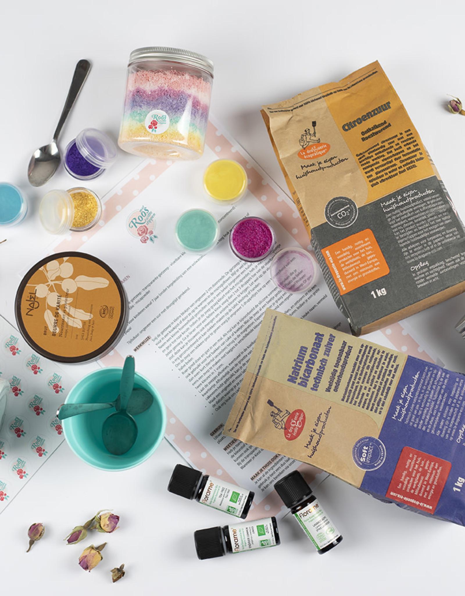 Roos met Witte Stippen DIY pakket Unicorndust