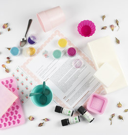 Roos met Witte Stippen DIY pakket Zeepjes