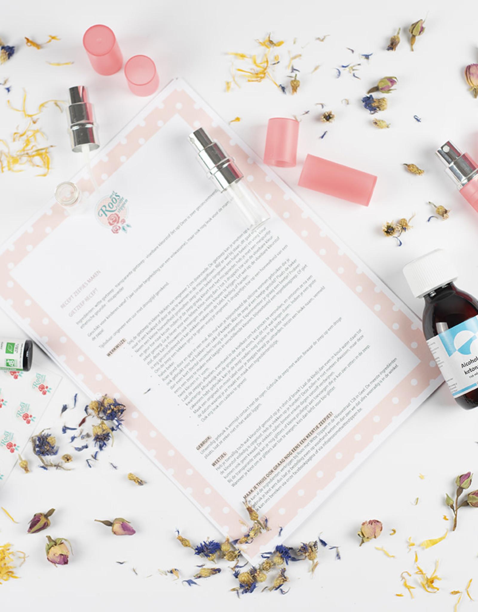 Roos met Witte Stippen DIY pakket Parfum