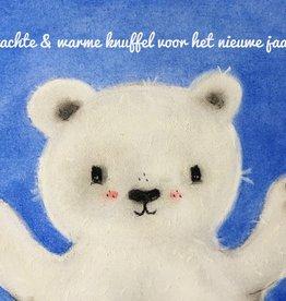 snoetjes vol sproetjes Kaartje ijsbeer rechthoek - nieuwe jaar