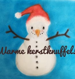 snoetjes vol sproetjes Kaartje sneeuwman rechthoek - nieuwe jaar