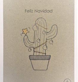 Atelier Amelie kaartje Feliz Navidad lijntekening
