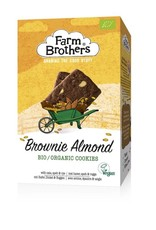 Farm Brothers Brownie & almond koekjes bio & vegan 150g