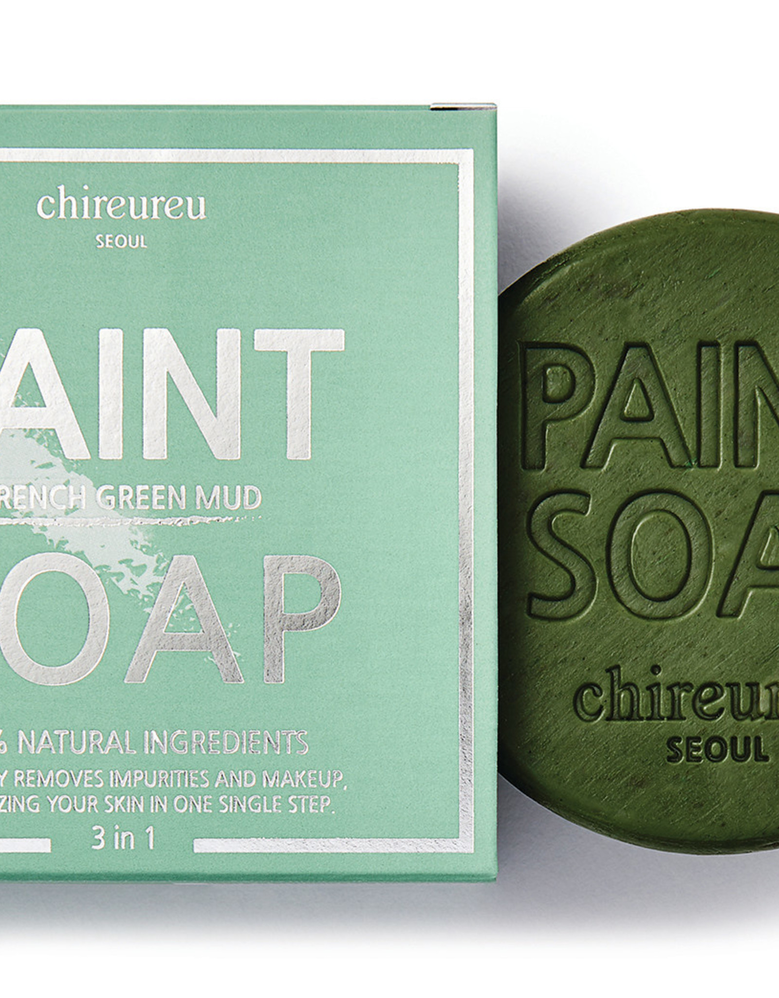 Chireureu Chireureu French Green Mud Paint Soap 100g