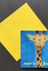 snoetjes vol sproetjes Kaartje Giraffe vierkant - Waar is dat feestje