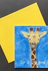 snoetjes vol sproetjes Kaartje Giraffe vierkant - Zie ik dat goed