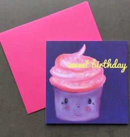 snoetjes vol sproetjes Kaartje Cupcake vierkant - Sweet Birthday