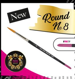Pink Tips Pink Tips Brush -  round 8