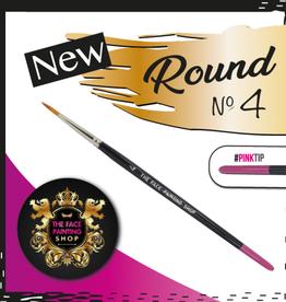 Pink Tips Pink Tips Brush -  round 4