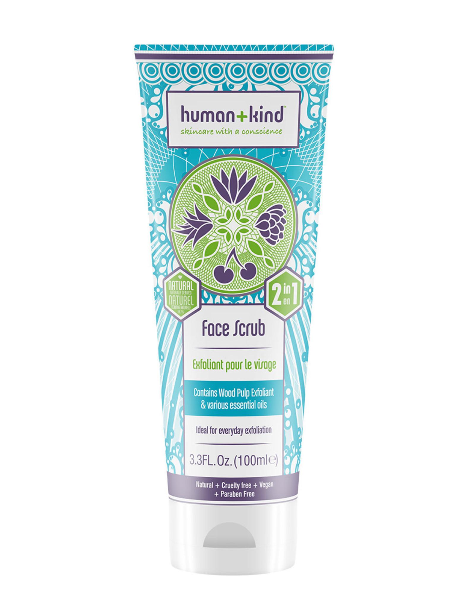 human+kind Face / gezicht scrub vegan 100ml