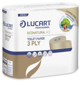 Lucart professional Lucart Toiletpapier gerecycleerd 3 lagig 4 rollen