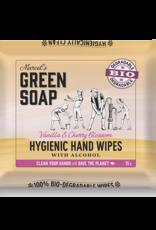 Marcel's Green Soap Hand wipes vanilla & cherry blossom bio 60 stuks