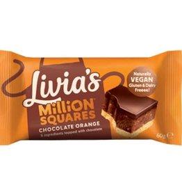 Livia's Livia's Million Squares chocolate orange 60g