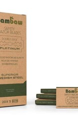 Bambaw Bambaw 100 Bambaw scheermesjes (20 pakken met 5 mesjes)