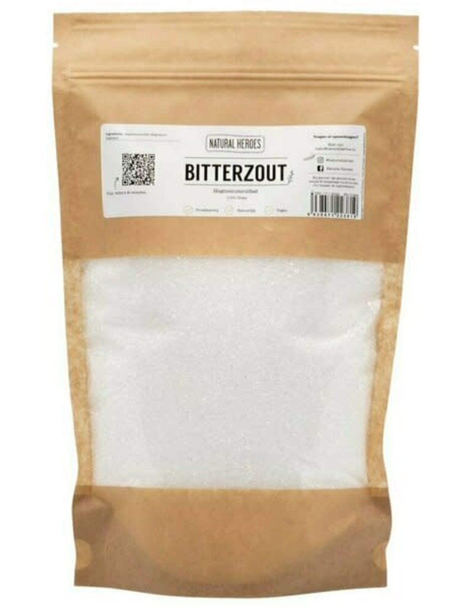 Natural Heroes Bitterzout (Epsom zout / Magnesiumsulfaat) 1kg