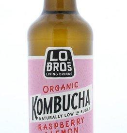 Lo Bros Lo Bros Kombucha raspberry & lemon 330ml