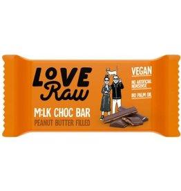 Love Raw Love raw  milk choc bar peanut butter filled 30g
