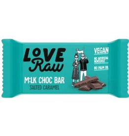 Love Raw Love raw  milk choc bar salted caramel 30g