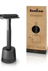 Bambaw Bambaw Safety Razor Zwart Handle met sokkel