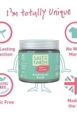 Salt of the Earth Salt of the Earth - Melon & Cucumber Natural Deodorant Balm - Plastic Free & Aluminium Free 60g