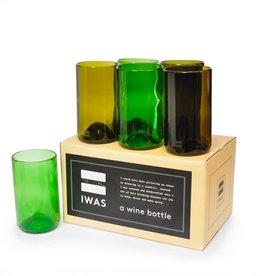 """IWAS Drinkglazen set """"Olive & Green"""" - set 6 glazen"""