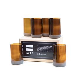 "IWAS Drinkglazen set ""Auburn"" - set 6 glazen"