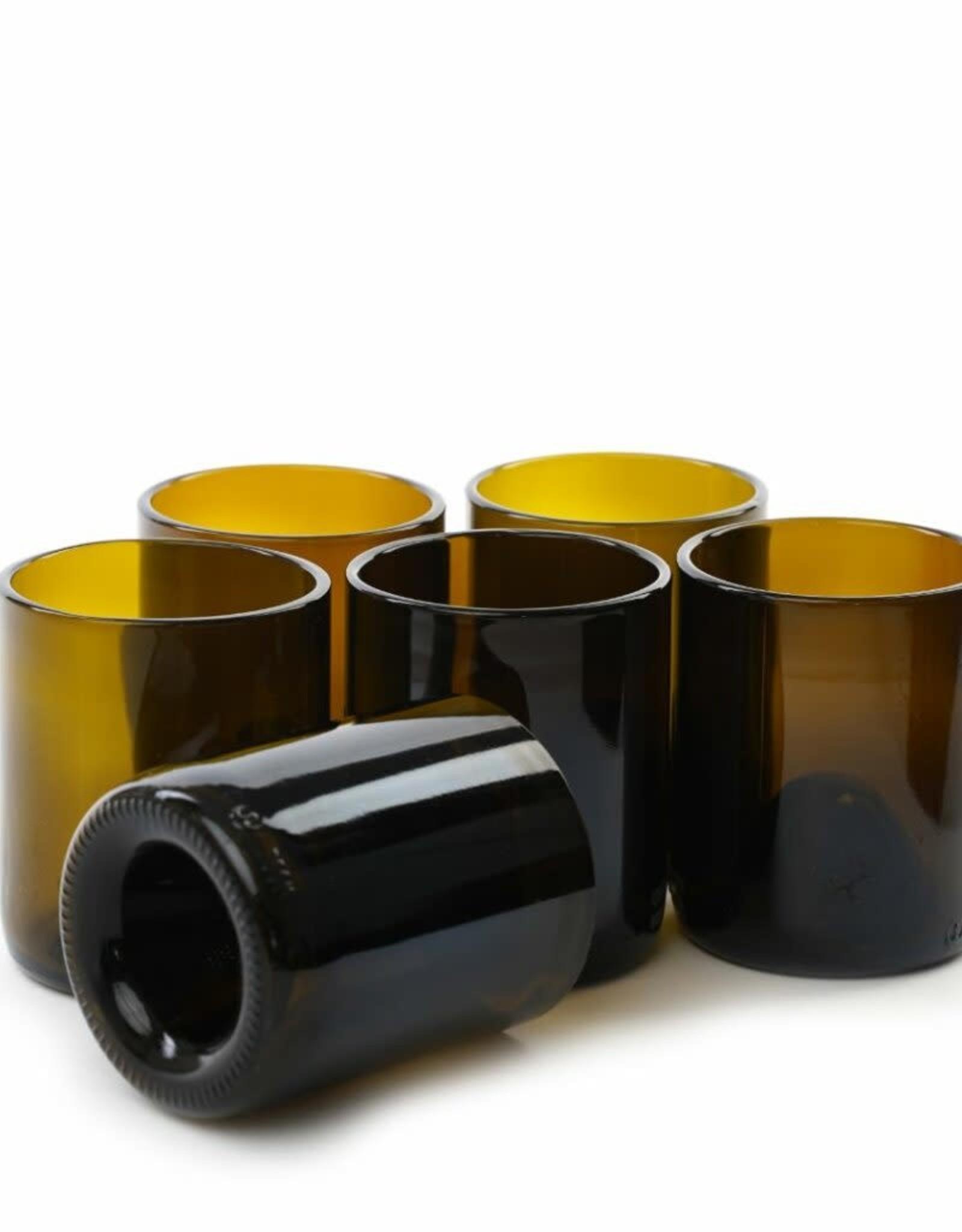 """IWAS Drinkglazen set """"Olive"""" short - set 6 glazen"""