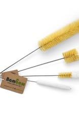 Bambaw Set Of 4 Brushes For Glassware