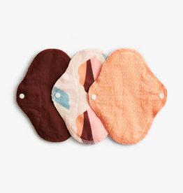 ImseVimse Sanitary Pads, Regular, Orange Sprinkle, pack of 3