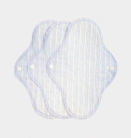 ImseVimse Sanitary Pads, Regular, Denim Stripes, pack of 3