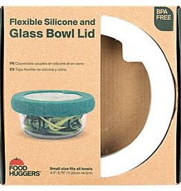 Foodhuggers Food Huggers - Glass Bowl Lid - White XS